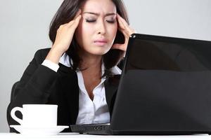 depressive Geschäftsfrau foto