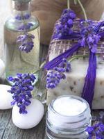 Spa Lavendel Anordnung foto