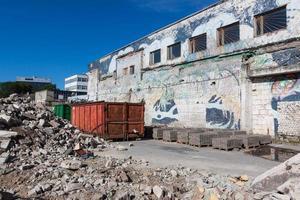 Trümmer auf der Baustelle foto