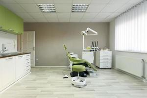 Innenraum der Zahnarztpraxis foto