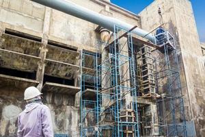 Reparatur von Gebäudefabriken foto