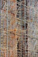 Gerüst auf der Baustelle foto