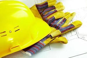 Helm und Handschuhe foto