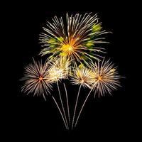 buntes Feuerwerk über dunklem Himmelhintergrund