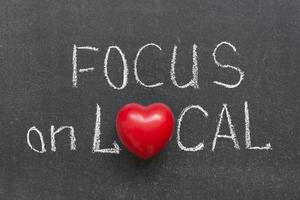 Fokus auf lokale foto