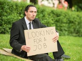 arbeitsloser Mann foto