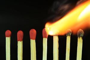 brennende Streichhölzer foto