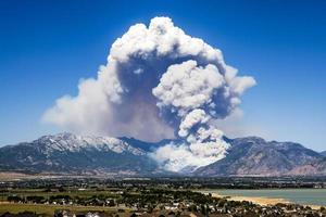 alpines Utah Feuer foto
