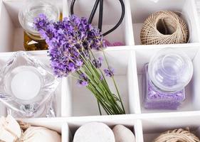 Spa mit Lavendel