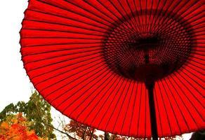 japanischer Regenschirm foto