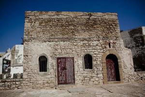 Gebäude im Hafen von Essaouira foto