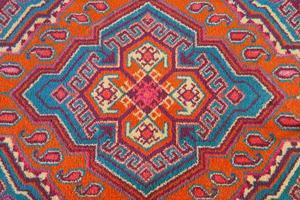 Verzierung des zentralasiatischen Teppichs foto