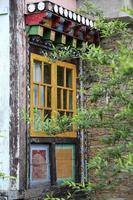 Gemälde über buddhistisches Kloster in Sikkim, Mai 2009, Indien