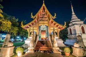 berühmter Tempel von Chaing Mai foto