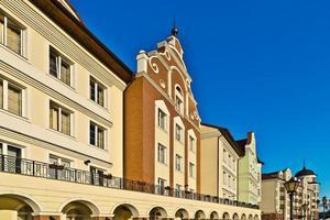 Fischerdorf - Stilisierung deutsche Architektur 19. Jahrhundert. foto