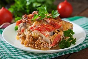 Moussaka - ein traditionelles griechisches Gericht foto