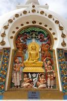 Detail der großen Shanti Stupa in der Nähe von Leh