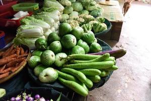 Gemüse im Frischmarkt foto