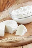 Milchprodukte und Getreide foto