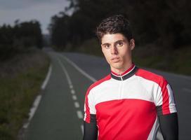 Läufer Mann Porträt foto
