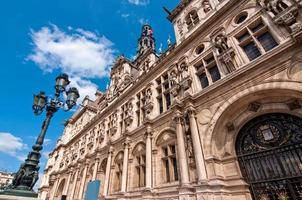 l'hotel de ville (Rathaus) von Paris, Frankreich foto