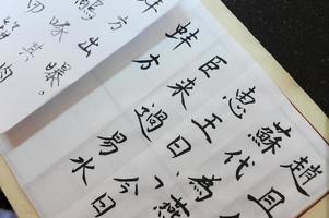 Schreiben der chinesischen Kalligraphie