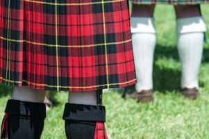 schottischer Mann in einem Kilt foto