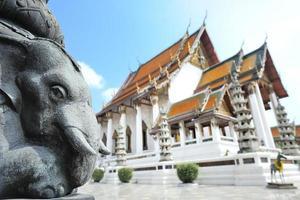 Wat Suthatthepwararam Tempel in Bangkok, Thailand foto