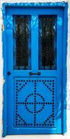 blaue Tür mit Ornament als Symbol von Sidi Bou sagte foto