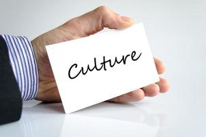 Kulturtextkonzept foto