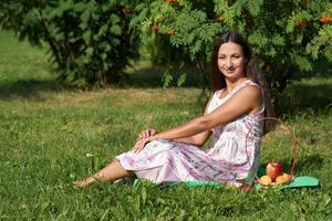 braunhaariges Mädchen foto