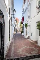 Dörfer von Andalusien mit Blumen in den Straßen foto