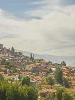Cusco Häuser in den Höhen foto