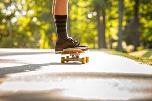 Skateboardfahrer foto