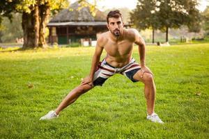 Fitness-, Sport-, Trainings- und Lifestyle-Konzept foto