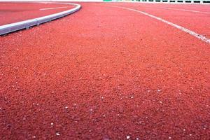 Laufbahn Gummi Standard rote Farbe foto