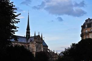 Kathedrale von Notre Dame in Paris, Frankreich. foto