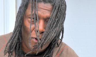 Afroamerikaner männlich. foto
