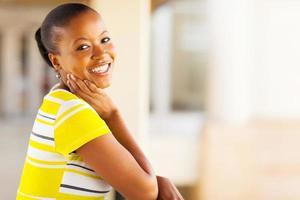 hübsche Afroamerikanerin foto