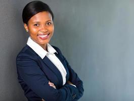 junge afroamerikanische Geschäftsfrau foto
