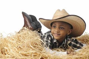 Cowboy im Heu foto