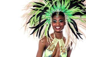 Nahaufnahme der Frau Samba Tänzerin. foto