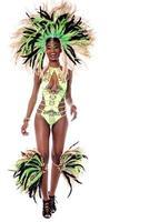 afrikanischer Karneval über Weiß foto