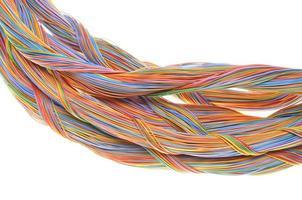 Wirbel von Computernetzwerkkabeln foto
