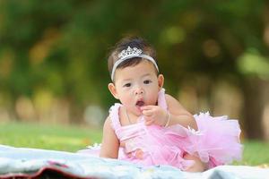 kleines asiatisches Mädchen foto