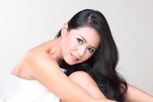 schöne asiatische Frau foto