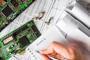 Plan für die Reparatur des Computers foto