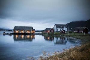 Lofoten Norwegen Häuser am Meer 4 foto