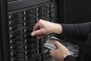 IT-Berater ersetzen San-Festplatte foto