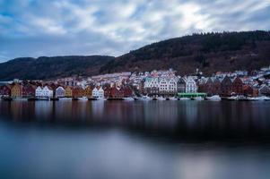 bryggen, bergen, norwegen foto